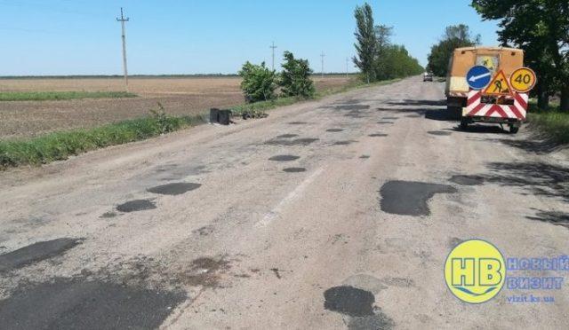 Начался ремонт проблемного участка дороги Геническ – Ивановка