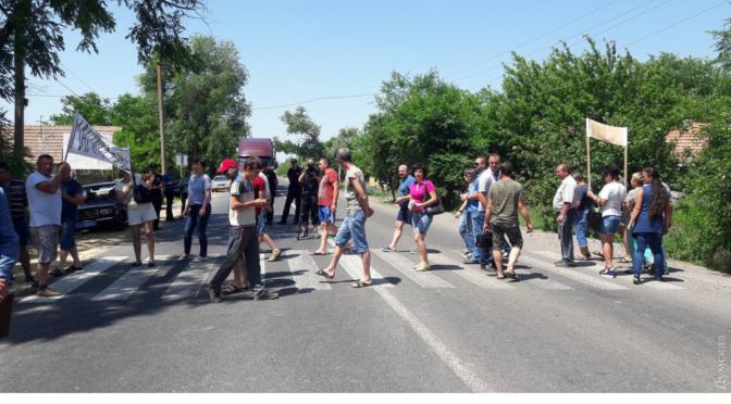 Степанов не контролирует ситуацию: в день прибытия Порошенко перекрывали трассы Одесса-Рени и Одесса-Киев