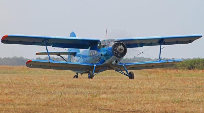 Единственный в Вооруженных силах самолет Ан-2 принял участие в учениях на Школьном аэродроме