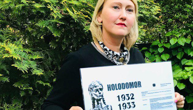 Наталія Ткачук, ініціаторка збору підписів під петицією до Бундестагу про Голодомор Плакала як від радощів, так і від відчаю