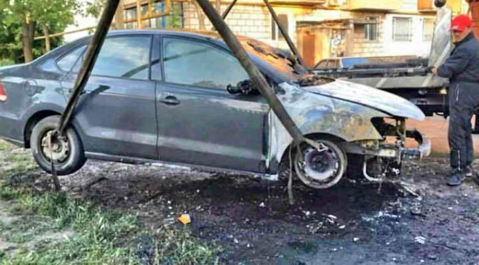 Блогеру в Измаиле сожгли автомобиль